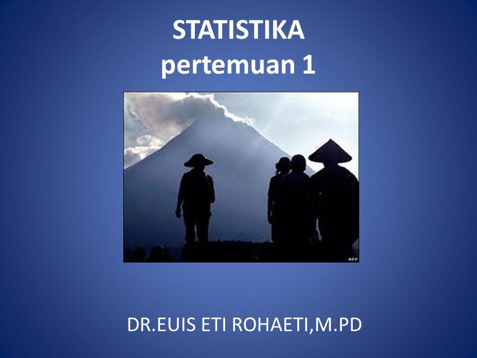 PENGERTIAN STATISTIK DAN STATISTIKA SECARA ASAL KATA Statistika berasal dari: 1.Bahasa latin : status 2.Bahasa Inggris : State Artinya kesatuan politik (berkaitan dengan suatu negara).