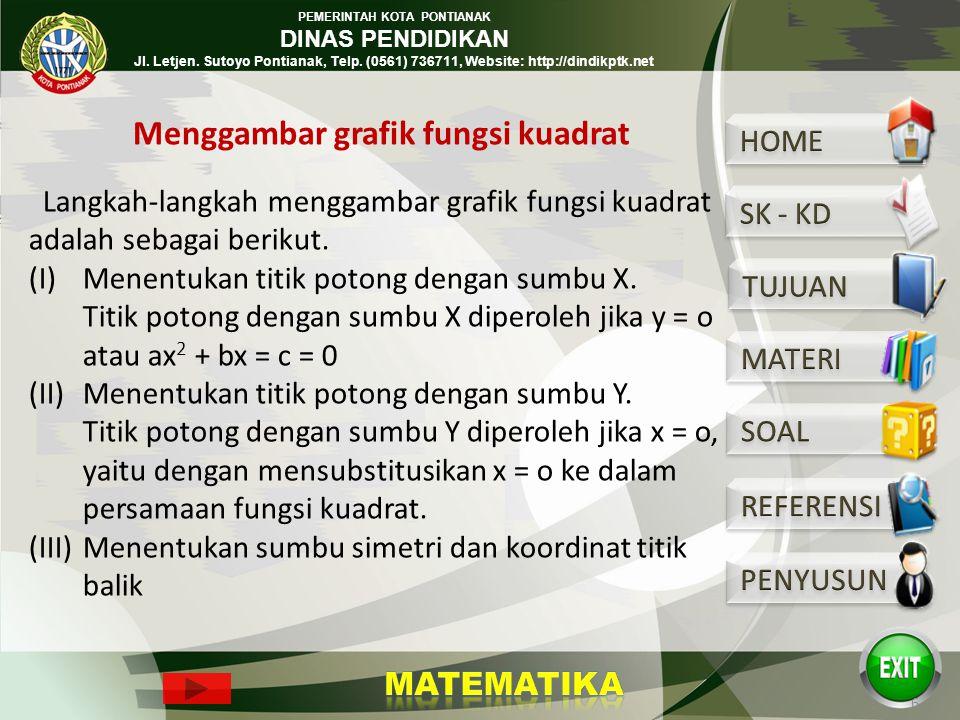 PEMERINTAH KOTA PONTIANAK DINAS PENDIDIKAN Jl. Letjen. Sutoyo Pontianak, Telp. (0561) 736711, Website: http://dindikptk.net * Berdasarkan nilai diskri