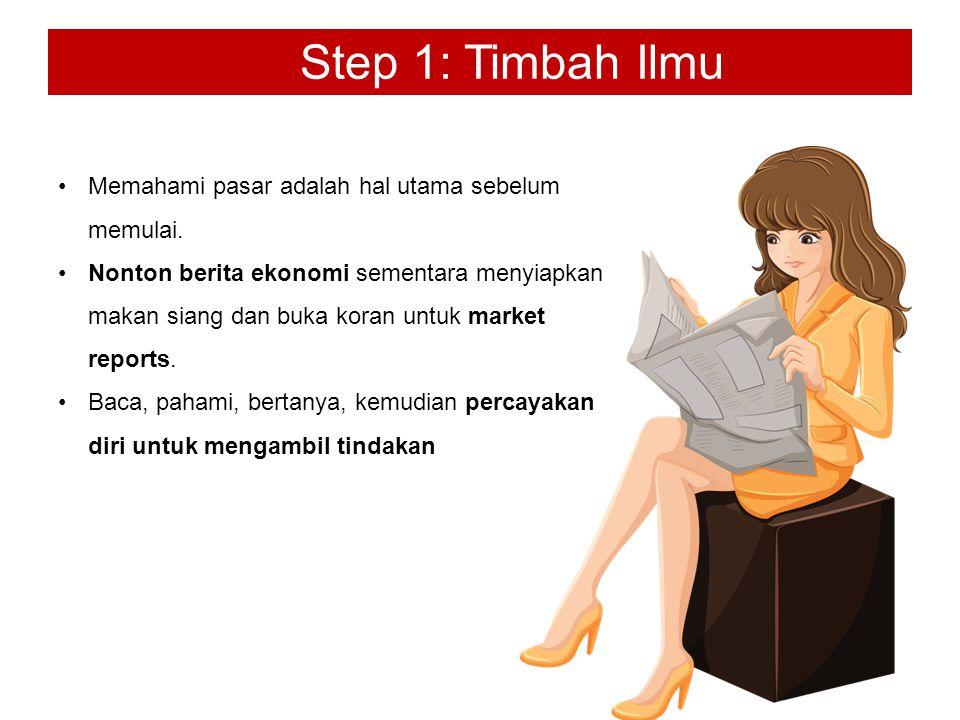 Step 1: Timbah Ilmu Memahami pasar adalah hal utama sebelum memulai.