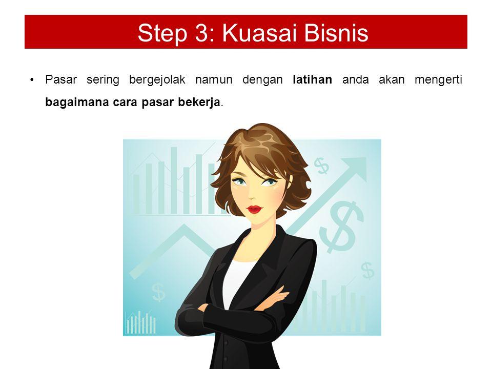 Step 3: Kuasai Bisnis Pasar sering bergejolak namun dengan latihan anda akan mengerti bagaimana cara pasar bekerja.