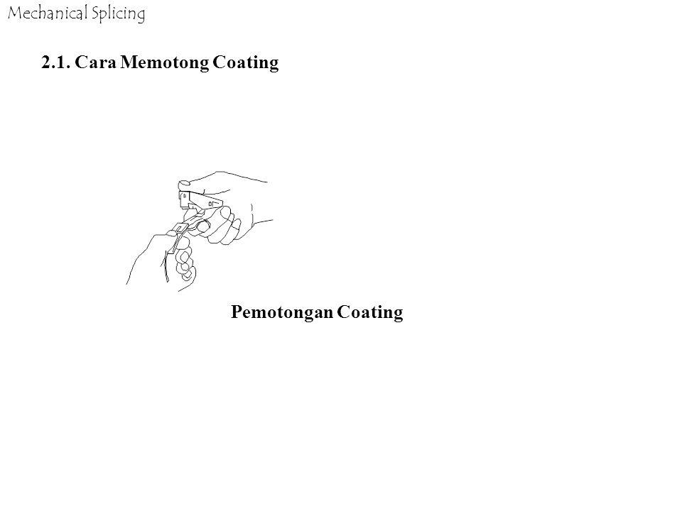 2.1. Cara Memotong Coating Pemotongan Coating Mechanical Splicing