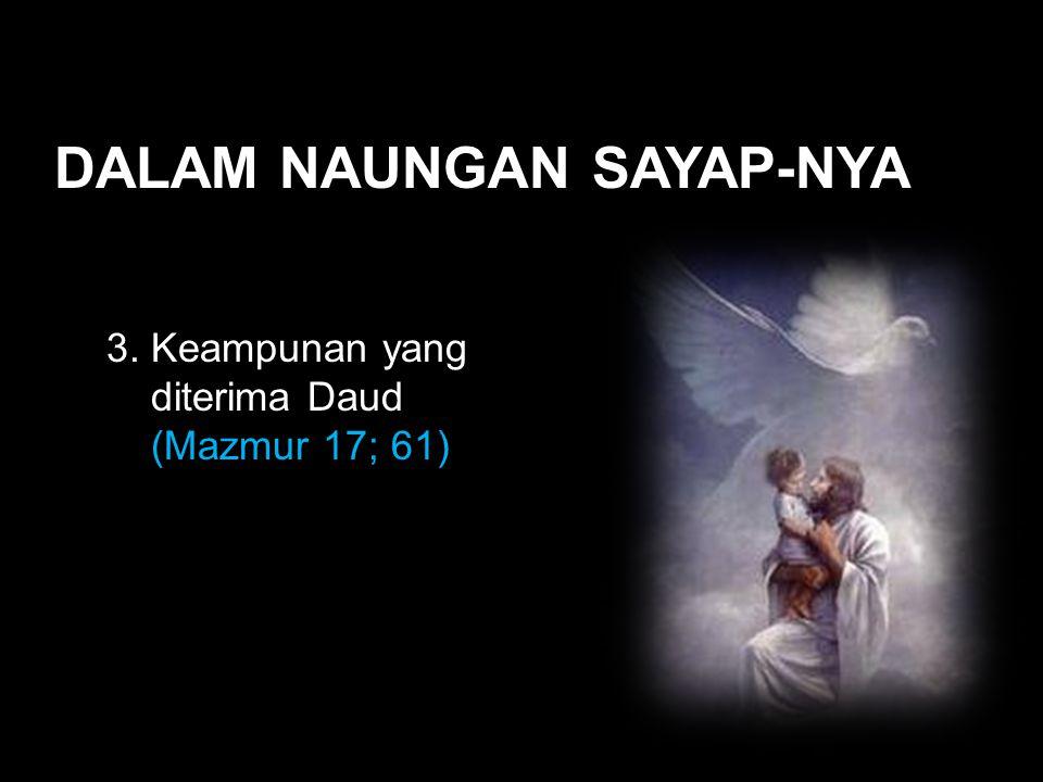 Black DALAM NAUNGAN SAYAP-NYA 3. Keampunan yang diterima Daud (Mazmur 17; 61)