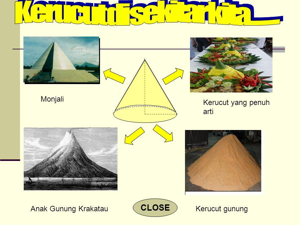 Monjali Kerucut yang penuh arti Kerucut gunungAnak Gunung Krakatau CLOSE