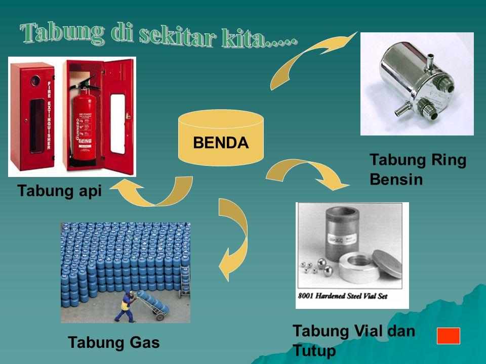 Tabung api Tabung Ring Bensin Tabung Gas Tabung Vial dan Tutup BENDA
