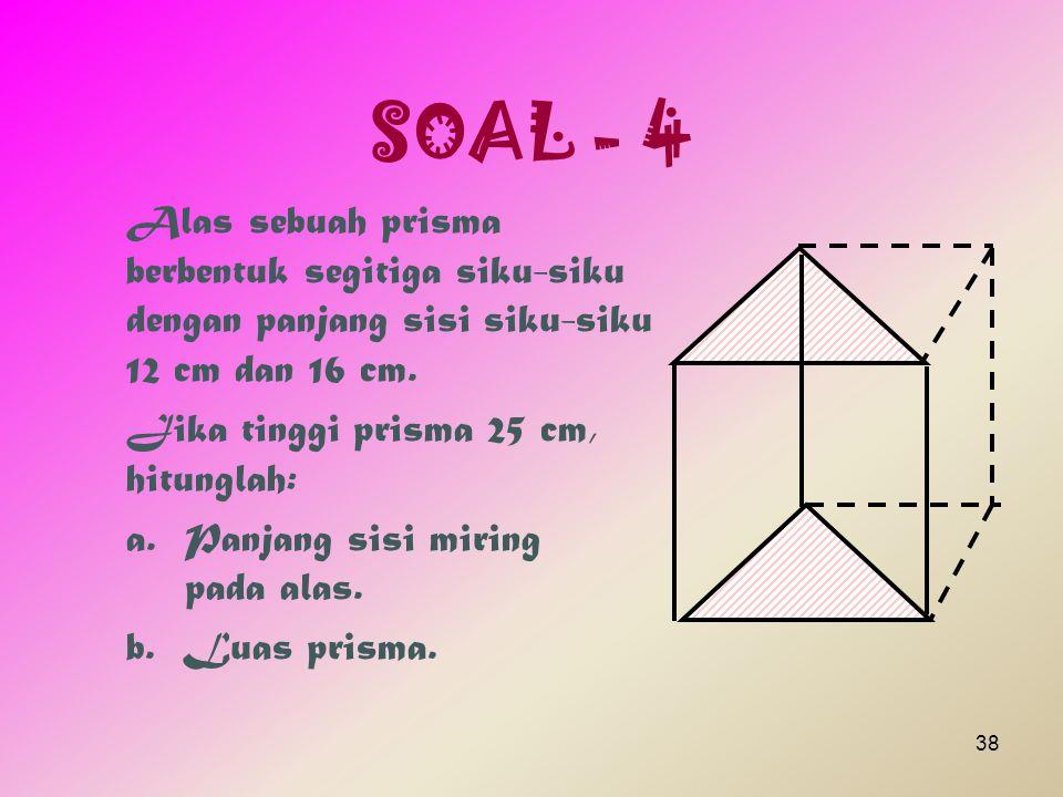 Pembahasan Diketahui : Jari-jari alas = 21 cm.