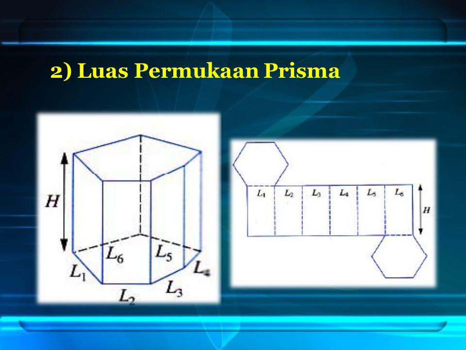 2) Luas Permukaan Prisma