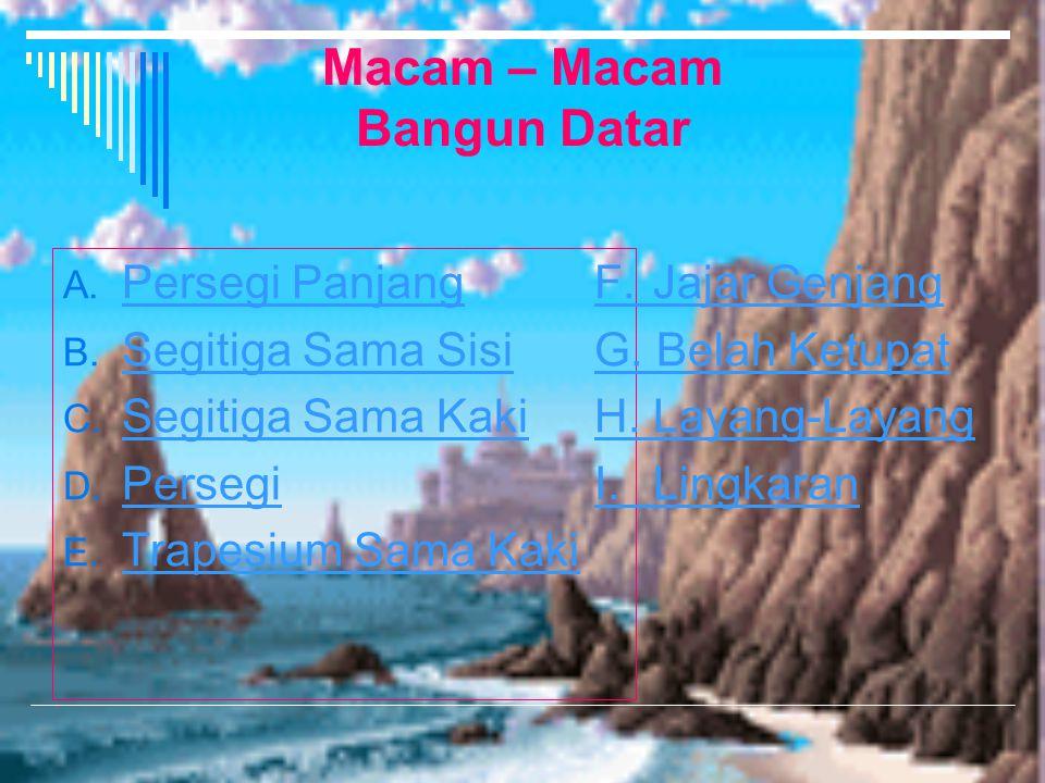 Mengidentifikasikan Sifat- Sifat Bangun Datar NAMA: Sri Wahyu Astuti NIM: A.410 080 122 Kelas: VII C