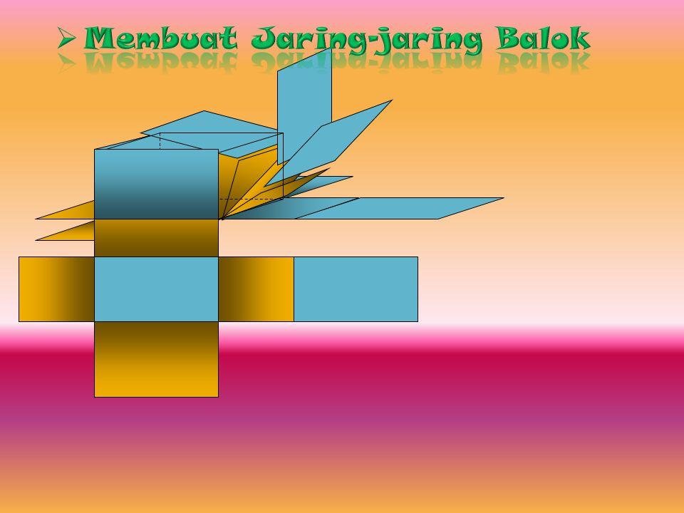 NoBangun Banyaknya SisiRusuk Titik sudut Diagonal ruang Diagonal bidang Bidang diagonal 1.2.BalokKubus 6 12 8 4 12 6