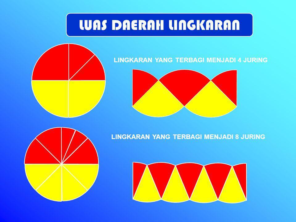 Potong layang-layang A menurut kedua garis diagonal.