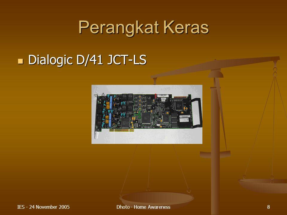 IES - 24 November 2005Dhoto - Home Awareness9 Perangkat Keras Telepon Genggam dan Kabel Data Telepon Genggam dan Kabel Data
