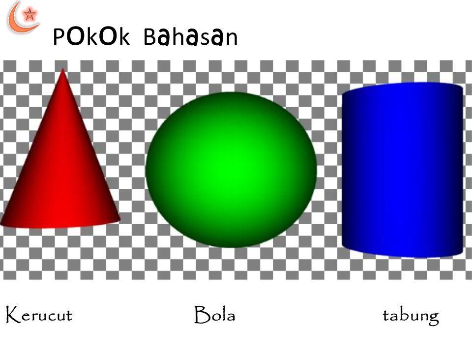Volum tabung  Pada tabung, alas tabung berupa lingkaran.