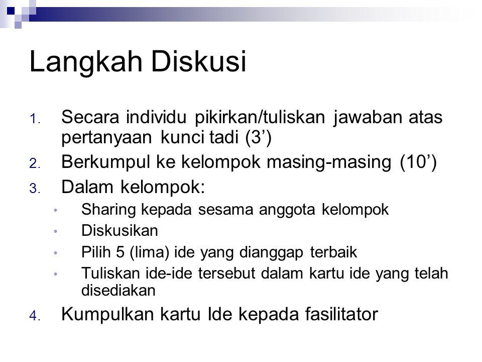 8 langkah 1.Memiliki tujuan perubahan kebijakan yang jelas 2.