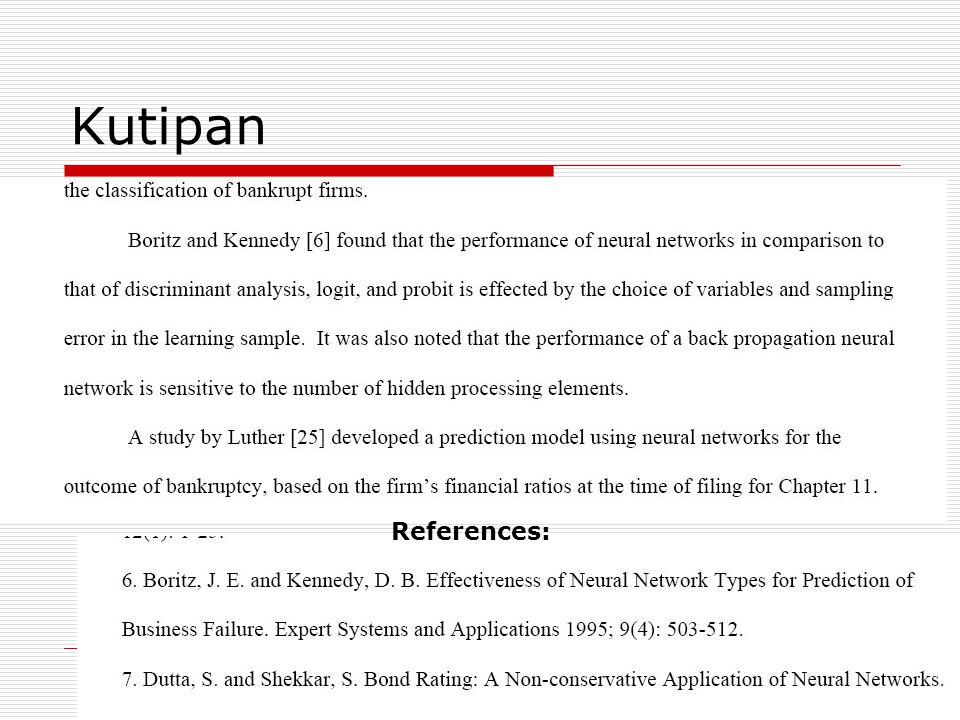 Kutipan References:
