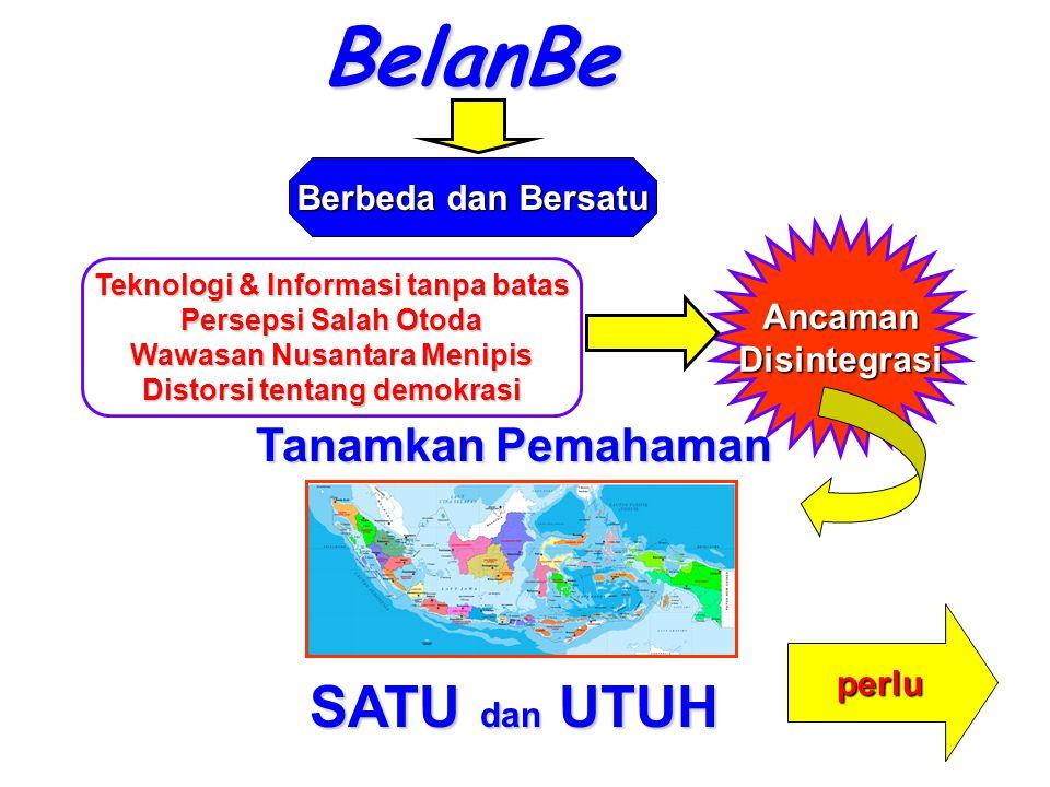 BelanBe Berbeda dan Bersatu Teknologi & Informasi tanpa batas Persepsi Salah Otoda Wawasan Nusantara Menipis Distorsi tentang demokrasi AncamanDisinte