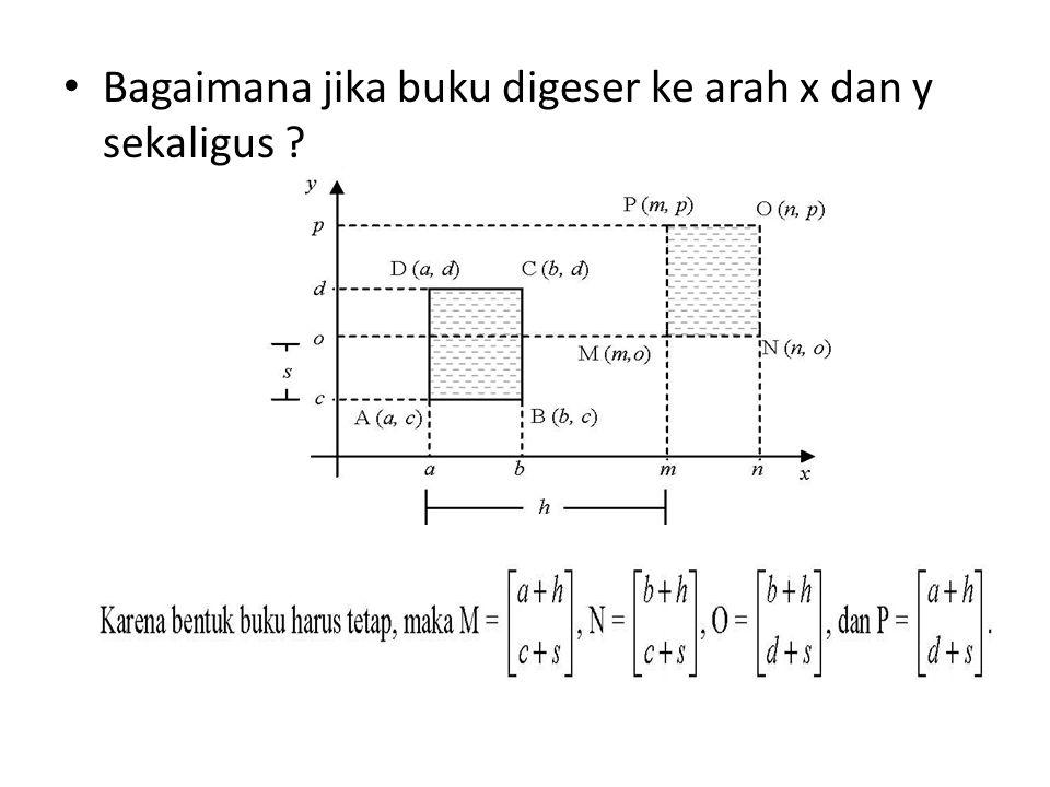 Bagaimana jika buku digeser ke arah x dan y sekaligus