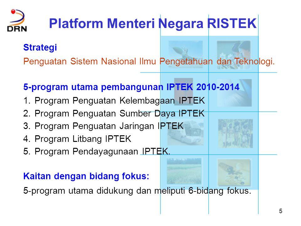 16 Bidang Teknologi Informasi dan Komunikasi (8 Des 2009) Program: 1.