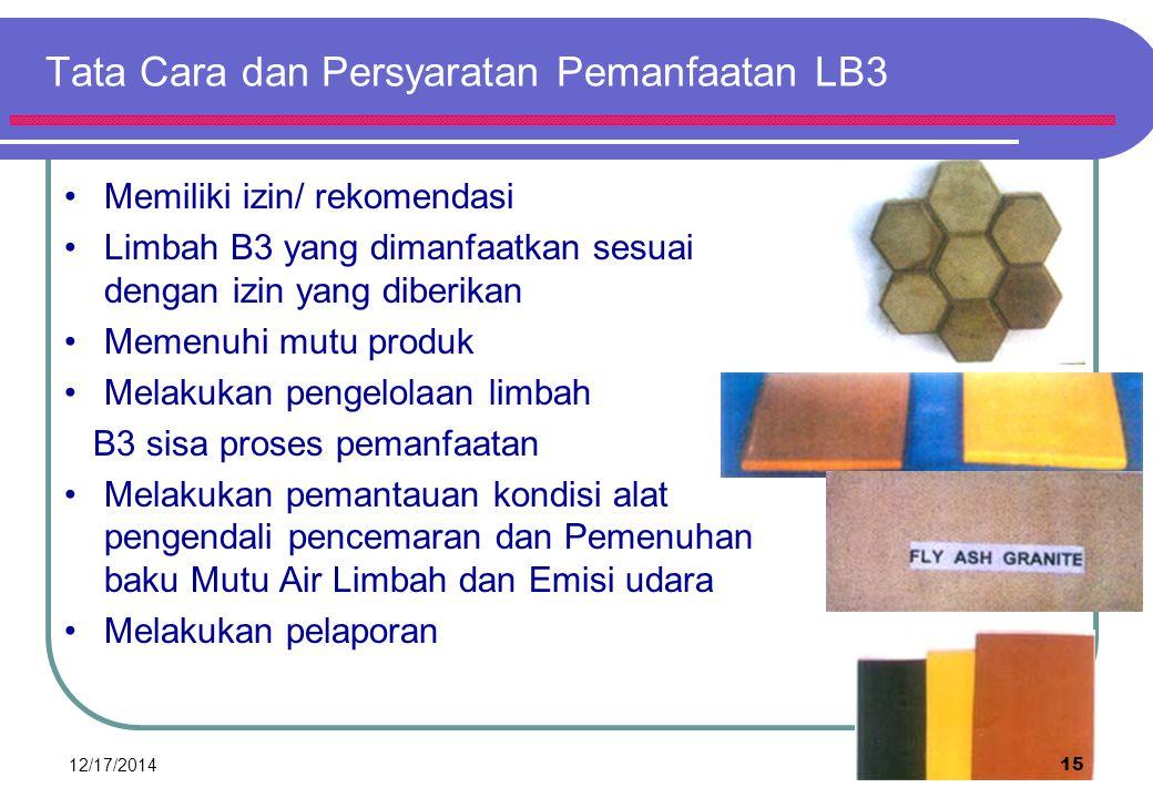 MEKANISME PERJALANAN DAN ALIRAN DOKUMEN LIMBAH B3 12/17/201414