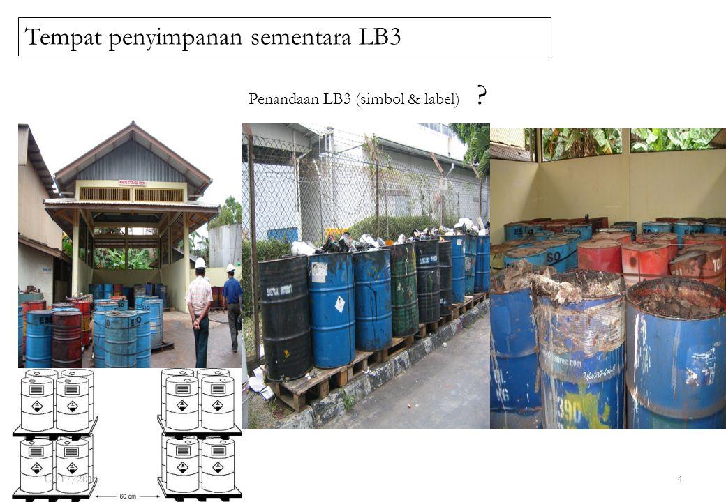 Tempat penyimpanan sementara LB3 Penandaan LB3 (simbol & label) ? 12/17/20144