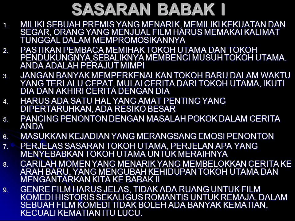 SASARAN BABAK I 1.