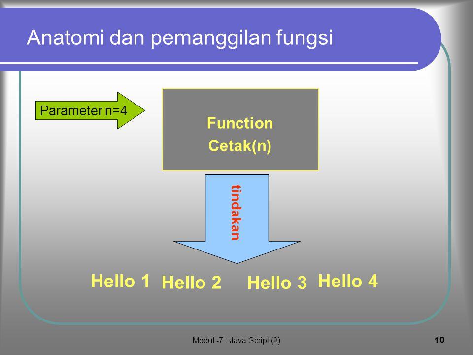Modul -7 : Java Script (2)9 4.