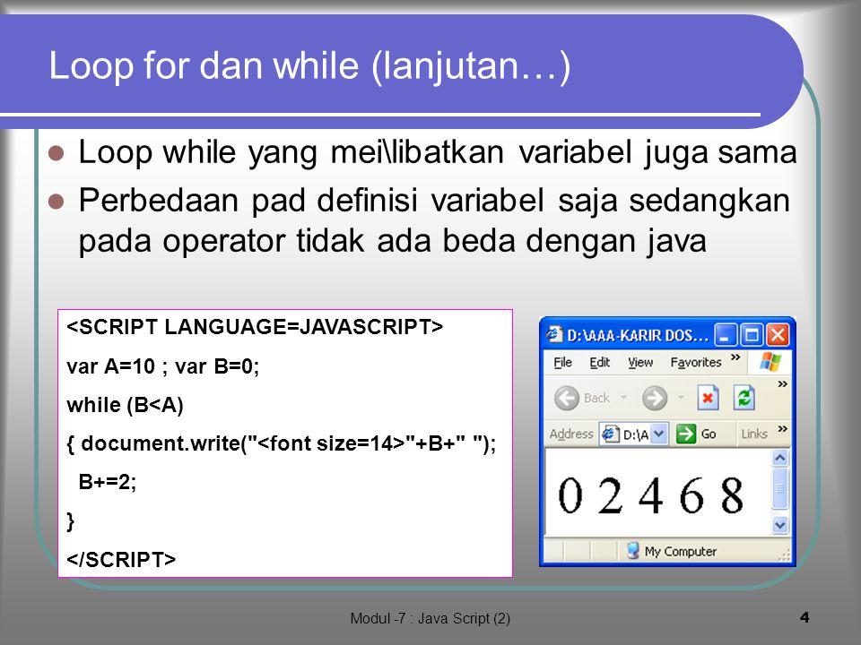 Modul -7 : Java Script (2)3 1.