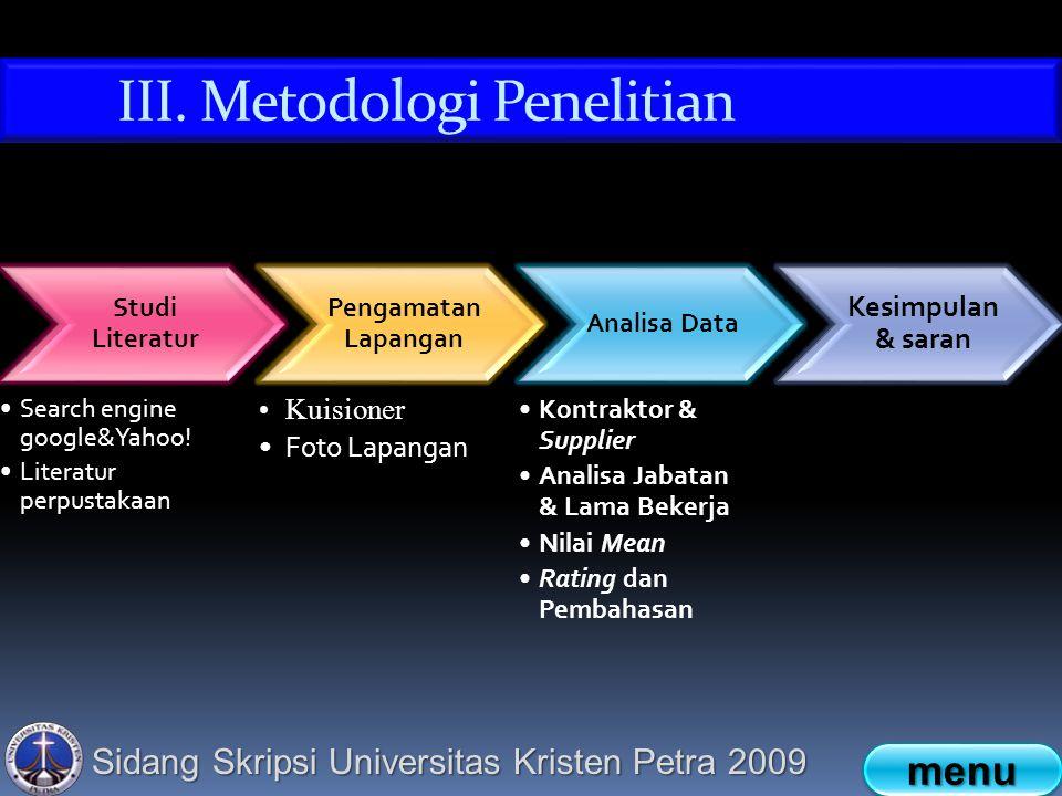 Sidang Skripsi Universitas Kristen Petra 2009 Studi Literatur Search engine google&Yahoo.