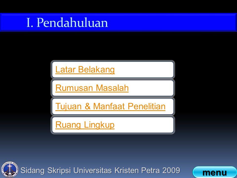 Sidang Skripsi Universitas Kristen Petra 2009 I.