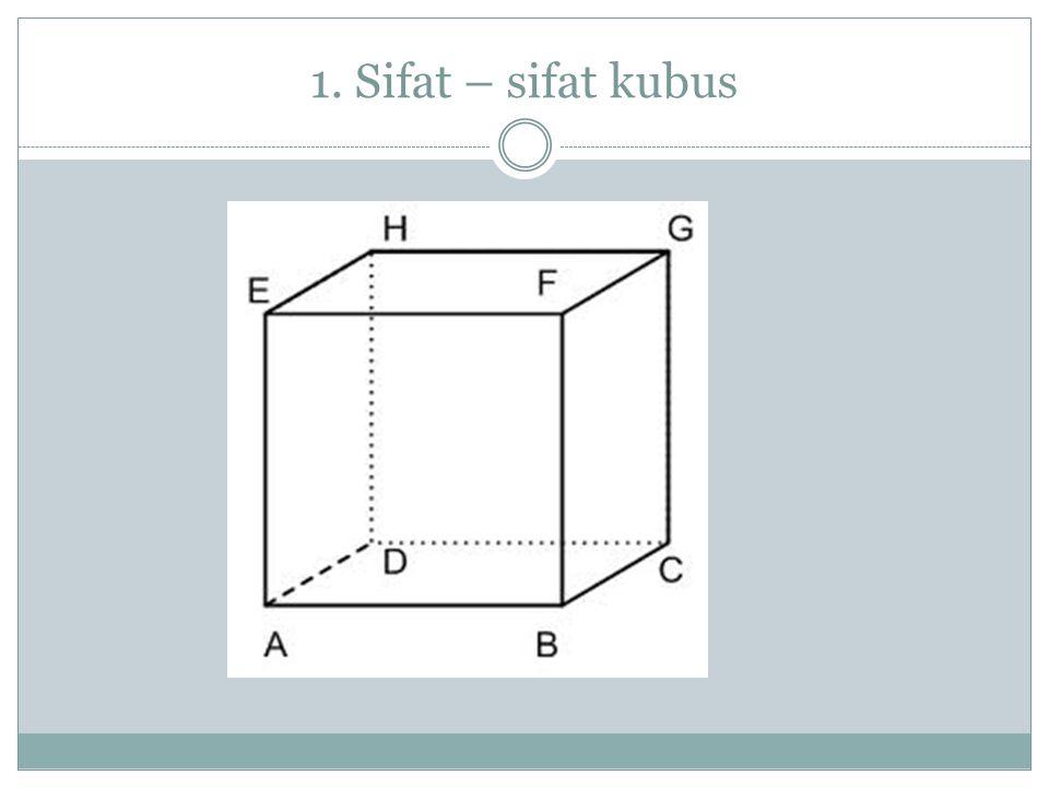 1. Sifat – sifat kubus