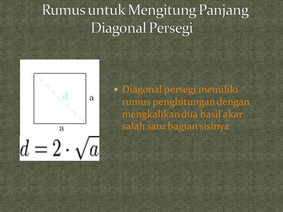 Rumus Luas (Area) L = S.S