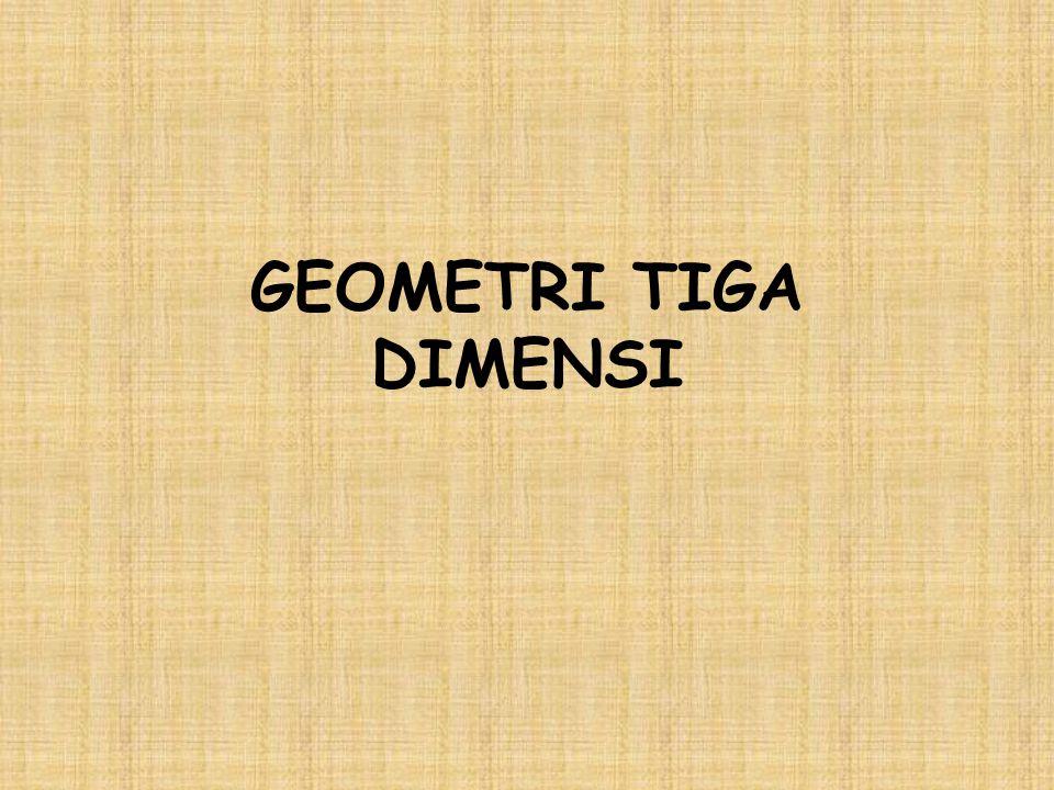 STANDAR KOMPETENSI Menentukan kedudukan, jarak dan besar sudut yang melibatkan titik, garis dan bidang dalam ruang dimensi tiga