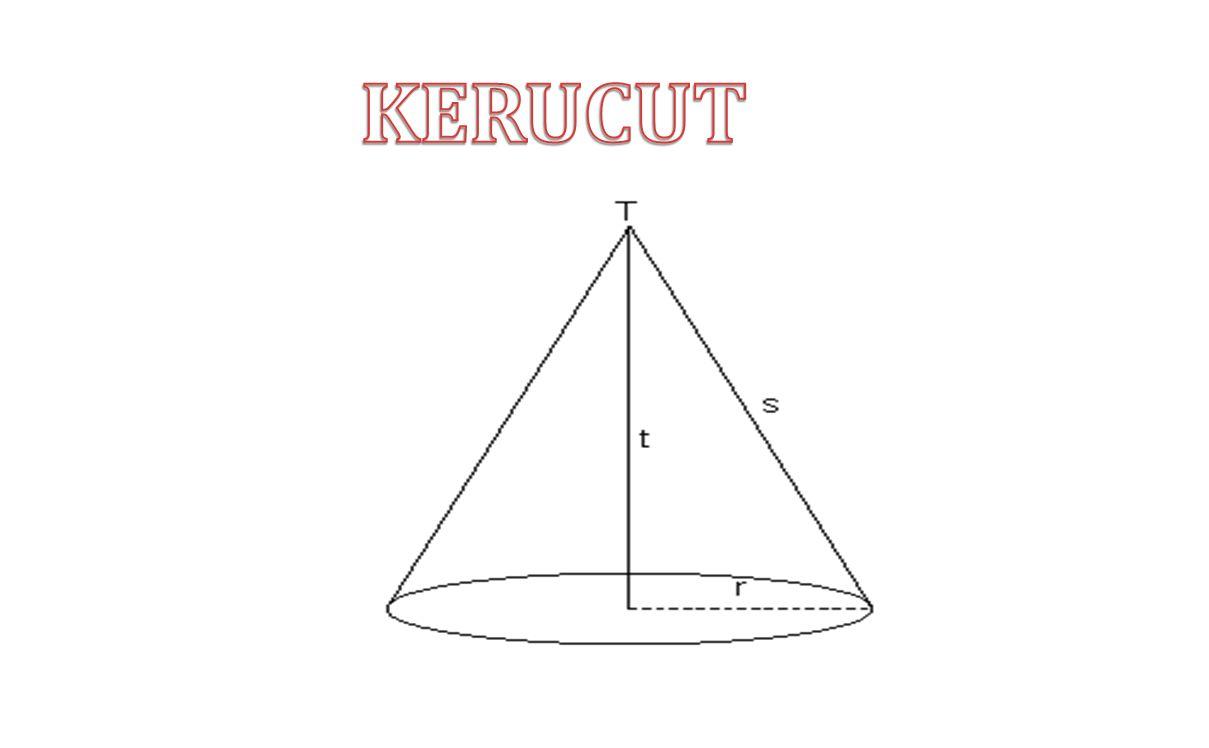kerucut Kerucut adalah limas beraturan yang memiliki sisi alas berupa lingkaran.