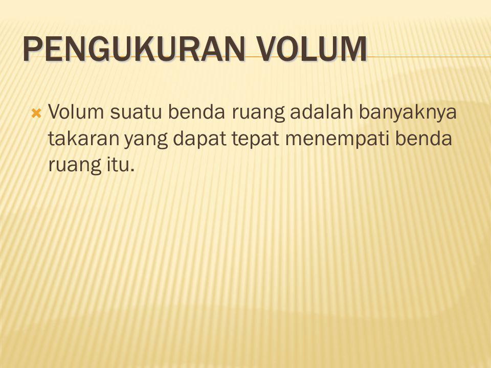 VOLUME BANGUN RUANG