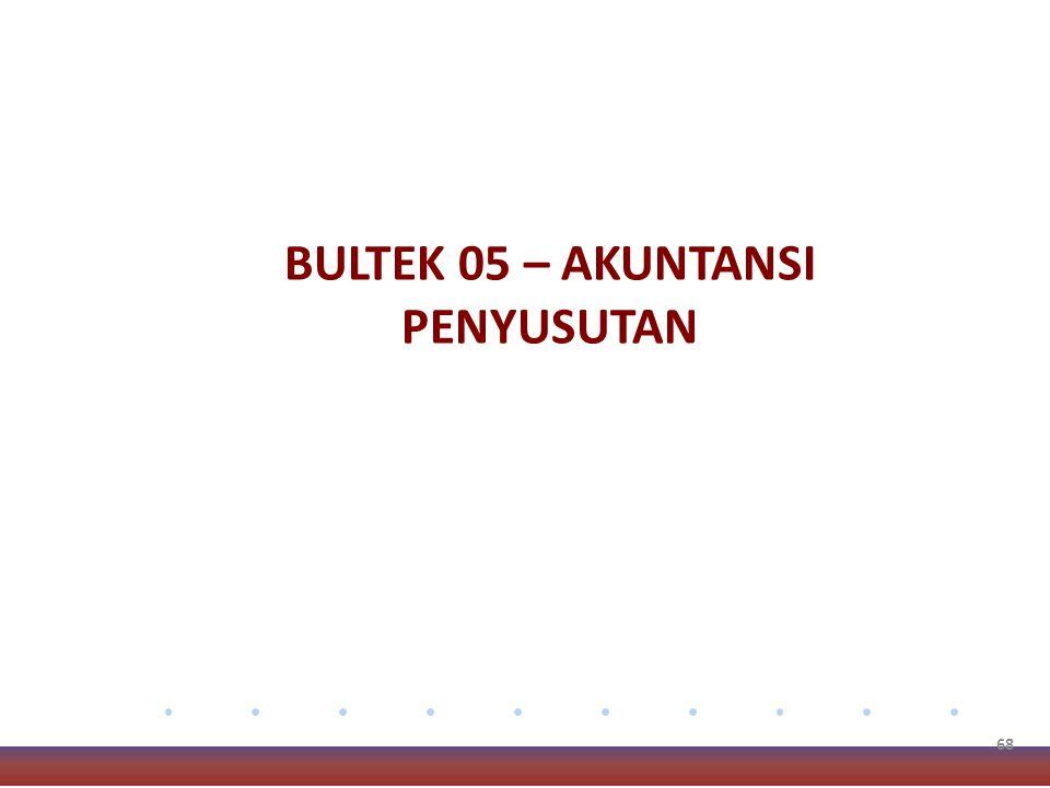 68 BULTEK 05 – AKUNTANSI PENYUSUTAN