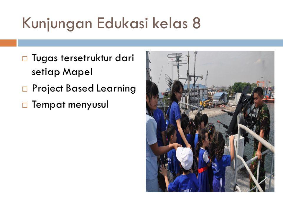 Kunjungan Edukasi kelas 8  Tugas tersetruktur dari setiap Mapel  Project Based Learning  Tempat menyusul