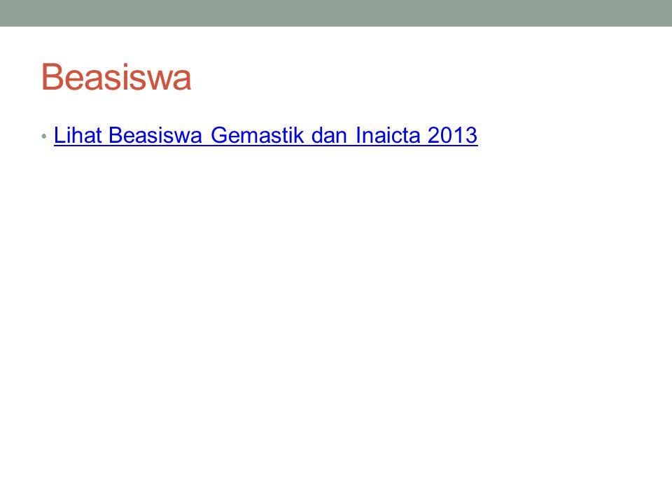 Beasiswa Lihat Beasiswa Gemastik dan Inaicta 2013