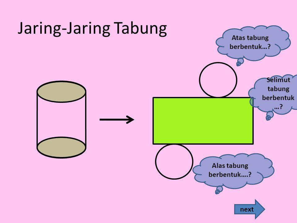 Jaring-Jaring Tabung next Atas tabung berbentuk….Alas tabung berbentuk…..