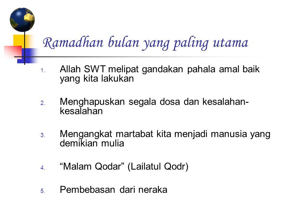 Persiapan Ilmu (pengetahuan seluk beluk Ramadhan) Diceritakan oleh Khuzaimah dalam shahihnya bahwa di penghujung bulan Sya'ban, Rasulullah Saw.