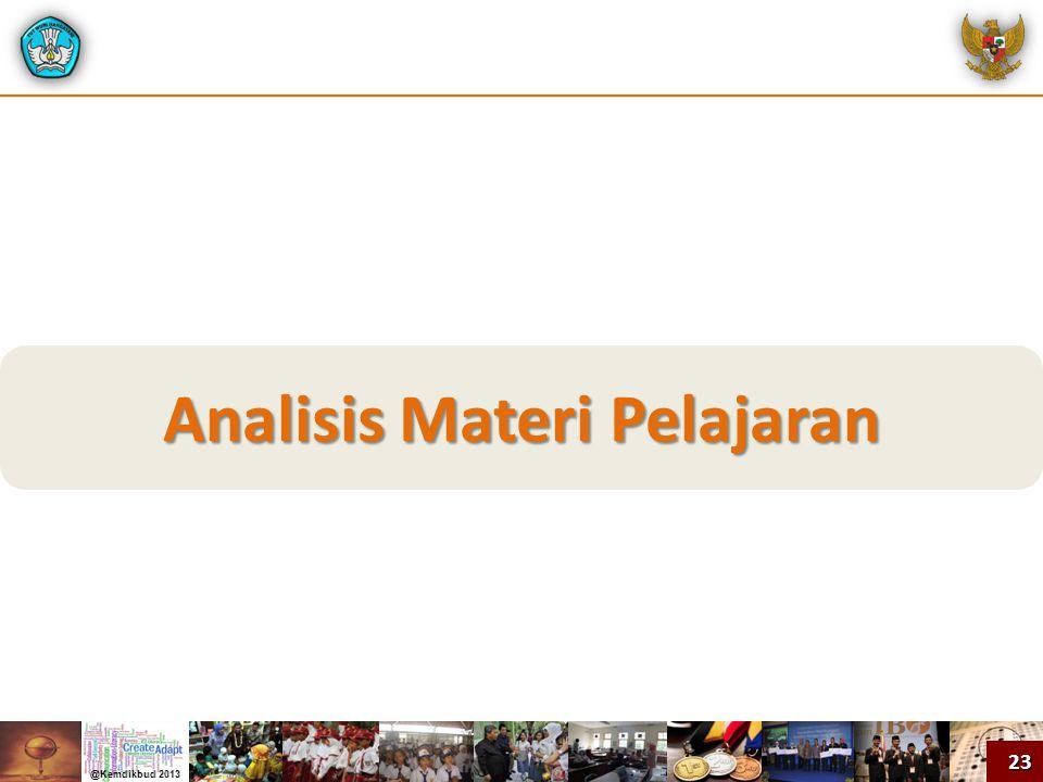 Analisis Materi Pelajaran 23