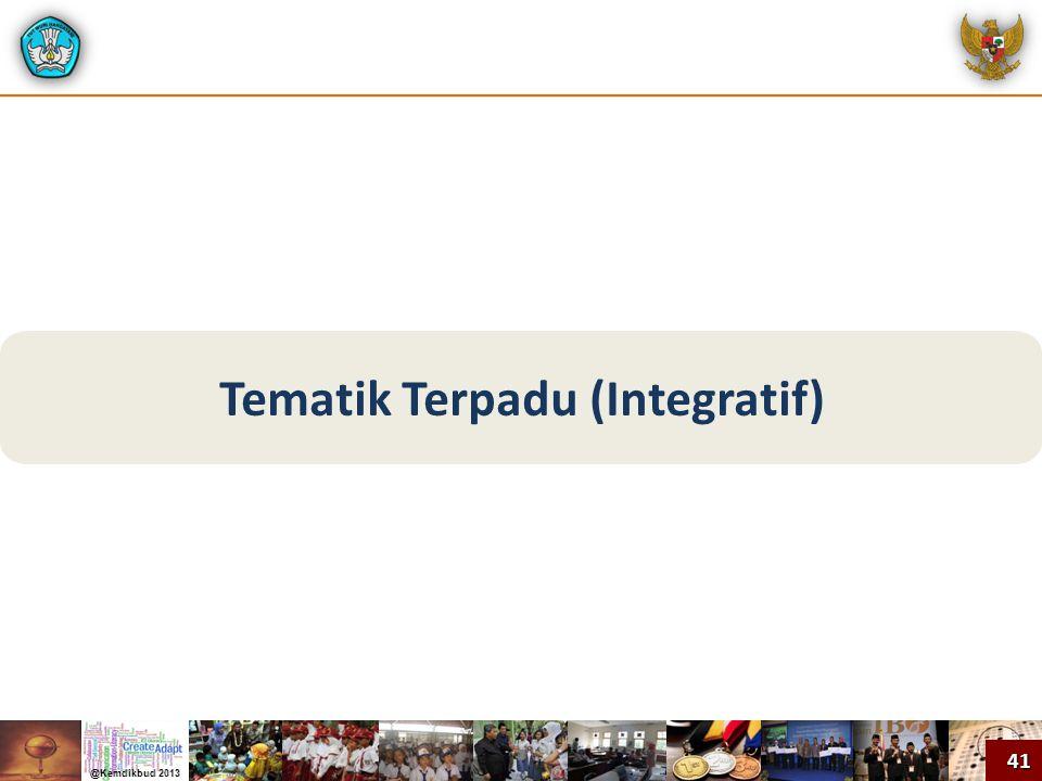 Tematik Terpadu (Integratif) 41