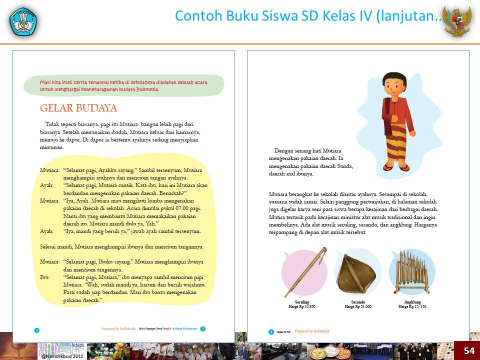 54 Contoh Buku Siswa SD Kelas IV (lanjutan...)