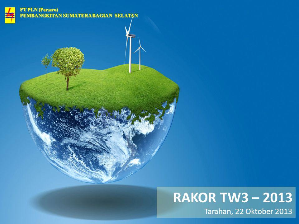 PT PLN (Persero) PEMBANGKITAN SUMATERA BAGIAN SELATAN RAKOR TW3 – 2013 Tarahan, 22 Oktober 2013