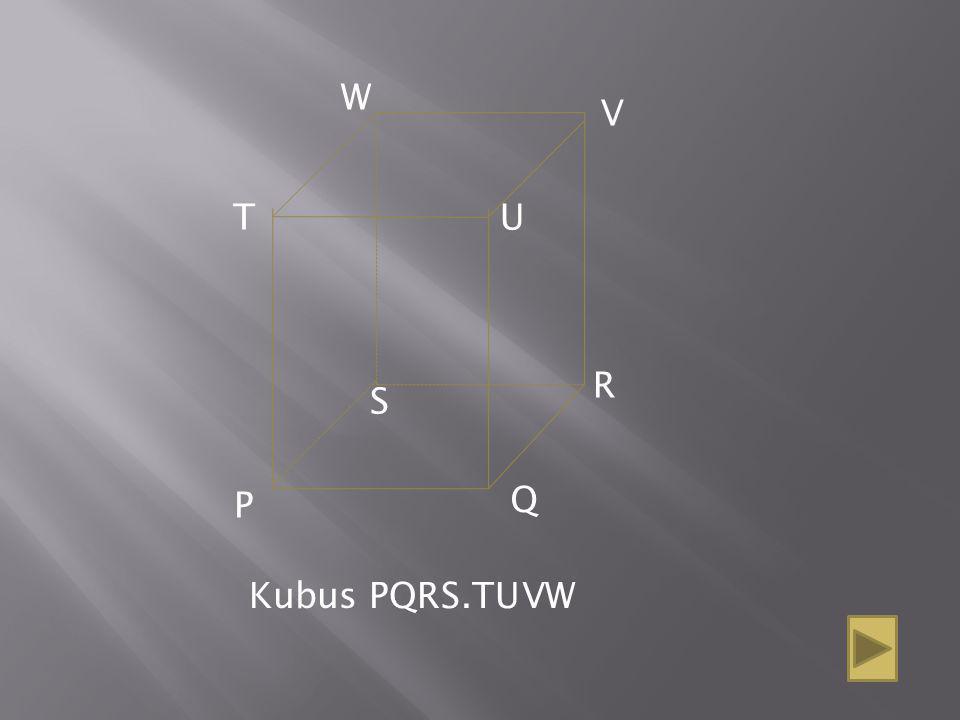 Q P R S W V UT Kubus PQRS.TUVW