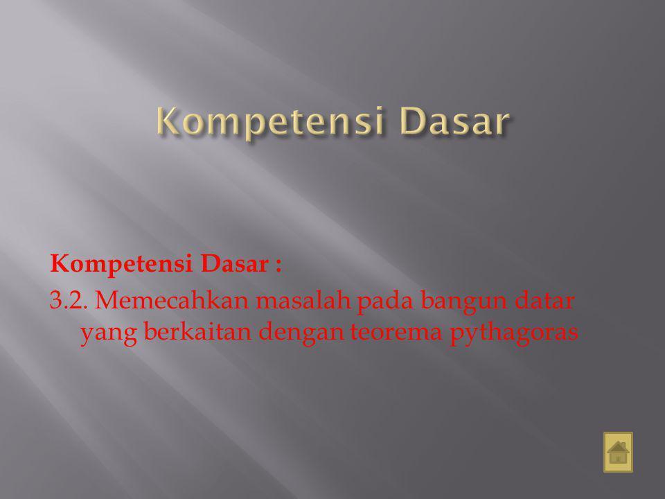 Kompetensi Dasar : 3.2.