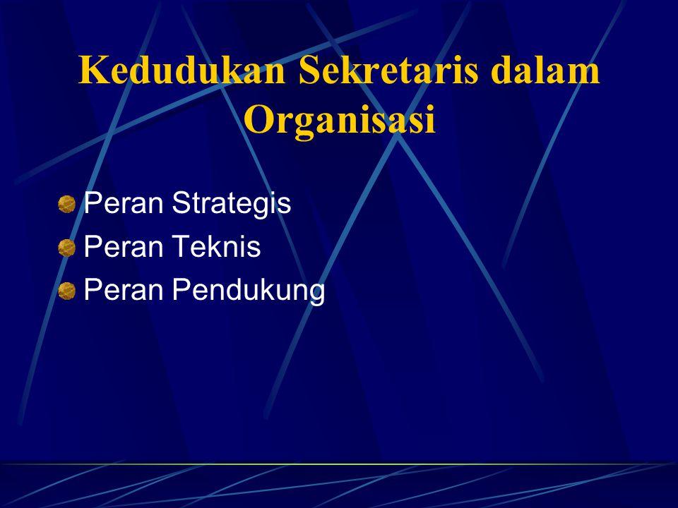C. Fungsi Mengadakan pencatatan dari semua kegiatan manajemen Sebagai alat pelaksana pusat ketatausahaan. Sebagai alat komunikasi organisasi / perusah