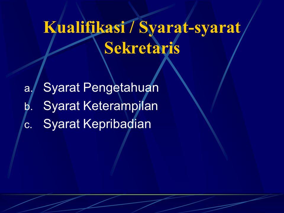 Kedudukan Sekretaris dalam Organisasi Peran Strategis Peran Teknis Peran Pendukung