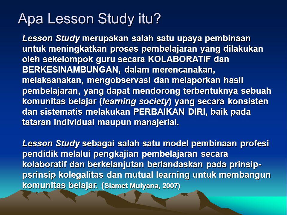 Apa Lesson Study itu.