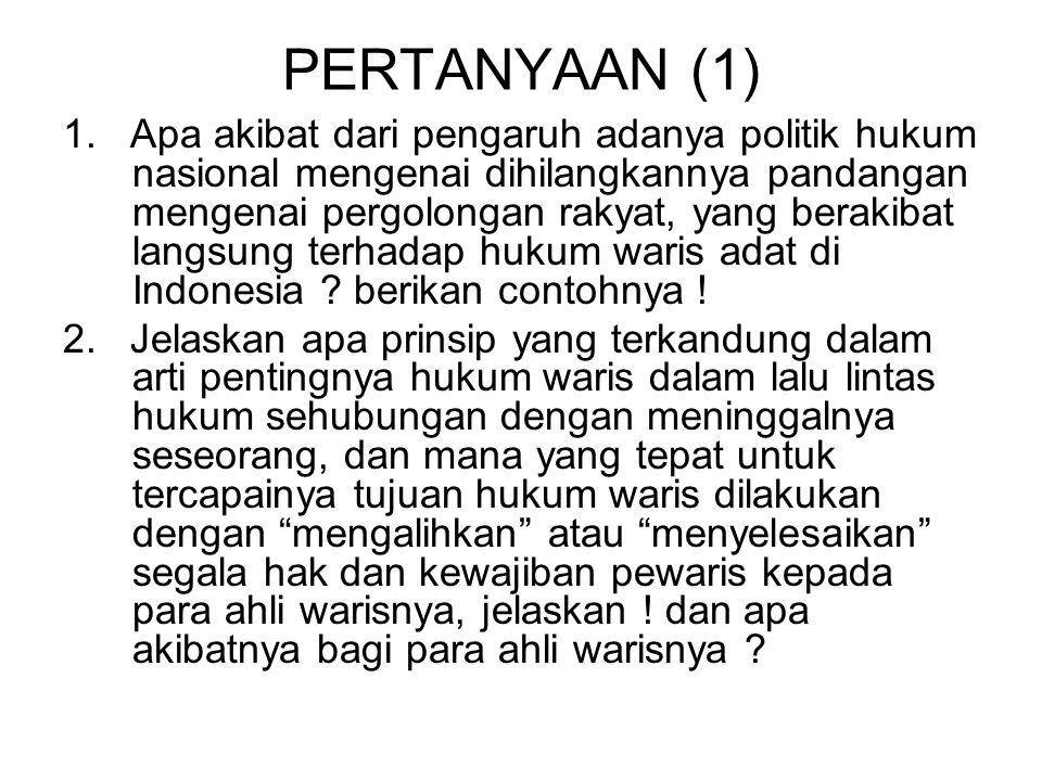 SOAL HUKUM ADAT (4) 10.