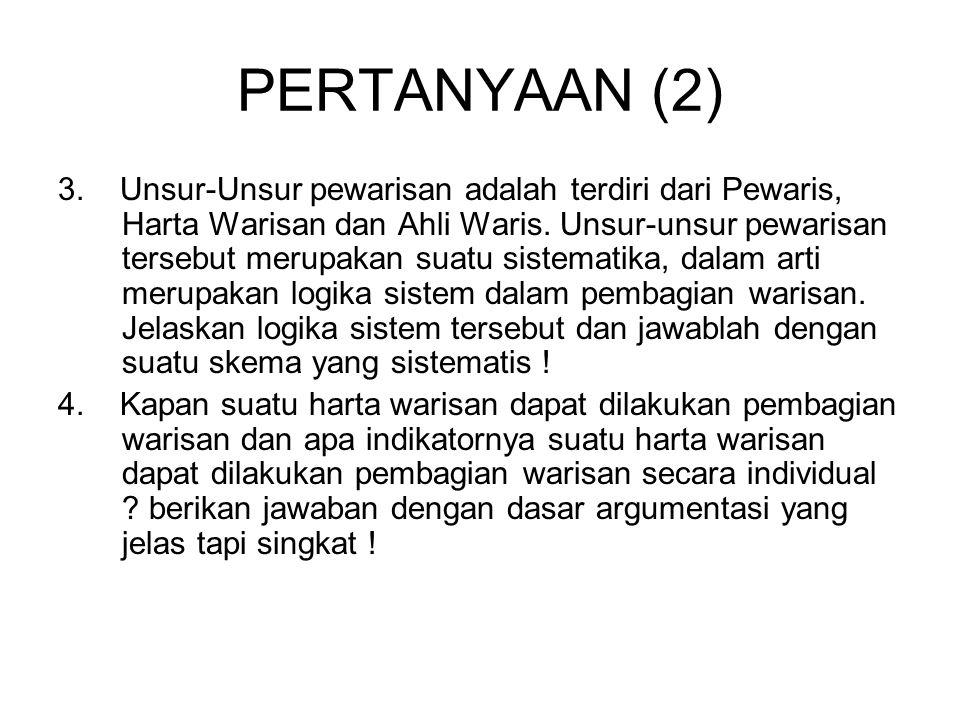 SOAL HUKUM ADAT (5) 13.