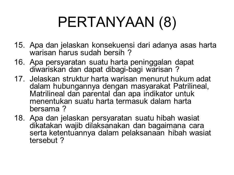 SOAL HUKUM ADAT (1) 1.