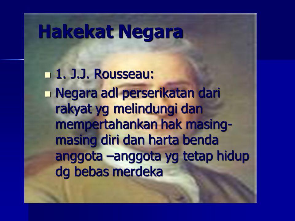 Hakekat Negara 1.J.J. Rousseau: 1. J.J.